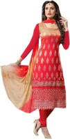 Women's Clothing - aathvika fashion Cotton Embroidered Salwar Suit Dupatta Material(Un-stitched)