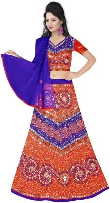 We Care Creation Cotton Self Design Semi-stitched Lehenga Choli Material