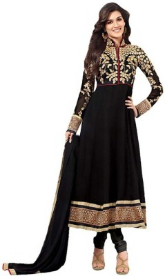 Rock Style Georgette Embroidered Semi-stitched Salwar Suit Dupatta Material