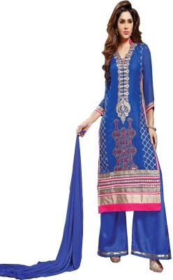 Taaza Fashion Chiffon Embroidered Semi-stitched Salwar Suit Dupatta Material