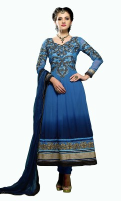 Tapi Creation Georgette Self Design Dress/Top Material