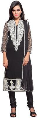 Luxuria Georgette Embroidered Salwar Suit Dupatta Material