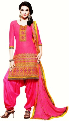 VenusINDR Cotton Embroidered Salwar Suit Material