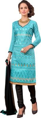 Jiya Chanderi, Silk Self Design, Embroidered Salwar Suit Dupatta Material