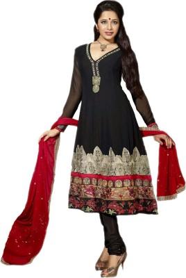 Manjaree Georgette Embroidered Semi-stitched Salwar Suit Dupatta Material