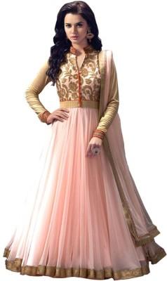 mGm Creation Net, Satin Self Design Semi-stitched Salwar Suit Dupatta Material
