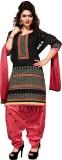 BanoRani Chanderi Self Design Semi-stitc...