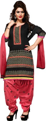 BanoRani Chanderi Self Design Semi-stitched Salwar Suit Dupatta Material