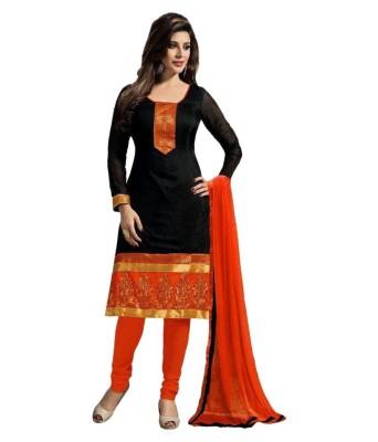 Kaladin Chanderi Embroidered Salwar Suit Dupatta Material