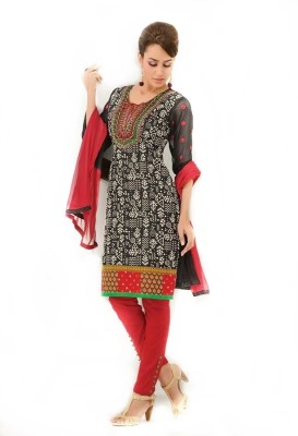 LookWell Cotton, Cotton Polyester Blend Printed, Embroidered Salwar Suit Dupatta Material