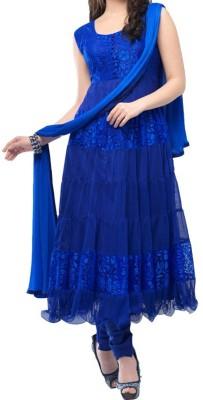 jennyfashionworld Brasso, Net Self Design Semi-stitched Salwar Suit Dupatta Material