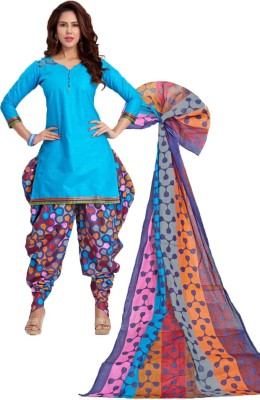 Indian Wear Online Cotton Printed Salwar Suit Dupatta Material