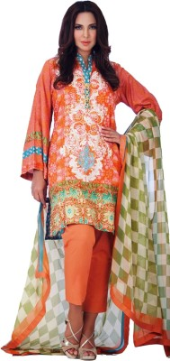 Ayesha Somaya Cotton Embroidered Salwar Suit Dupatta Material