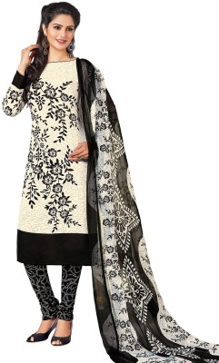 Jevi Prints Synthetic Printed Salwar Suit Dupatta Material