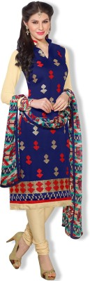 Fabfiza Chanderi Self Design Salwar Suit Dupatta Material