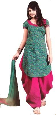 Dulhanboutiqe Cotton Floral Print Salwar Suit Dupatta Material