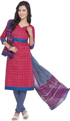 Salwar Studio Cotton Chevron, Geometric Print Salwar Suit Dupatta Material