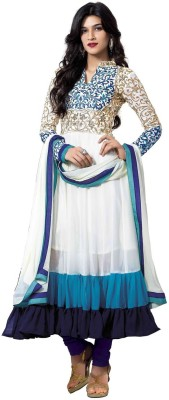 TirupatiBalaji Georgette Embroidered Semi-stitched Salwar Suit Dupatta Material
