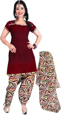 Araham Cotton Polyester Blend Solid Salwar Suit Dupatta Material