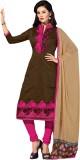Meghali Chanderi Solid Salwar Suit Mater...
