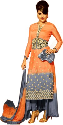 Justchic Georgette Embroidered Salwar Suit Dupatta Material