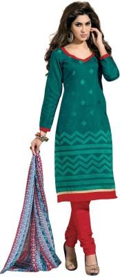 Fabdeal Cotton Geometric Print Salwar Suit Dupatta Material