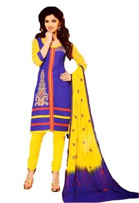 Freshboss Chanderi Embroidered Salwar Suit Dupatta Material