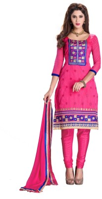 Aasvaa Chanderi Embroidered Salwar Suit Dupatta Material