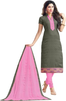 Khushali Jacquard Self Design, Embroidered Salwar Suit Dupatta Material