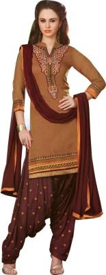 Yati Chanderi Embroidered Salwar Suit Dupatta Material