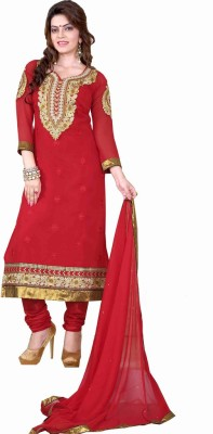 Styles Closet Georgette Embroidered Salwar Suit Dupatta Material
