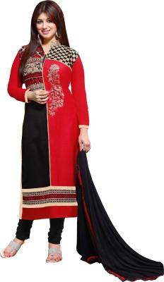 Jiya Cotton Self Design, Embroidered Dress/Top Material