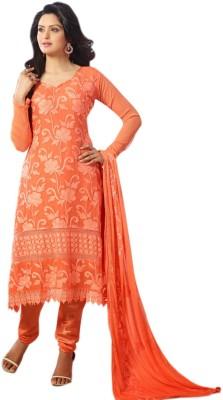Vandv Shop Chiffon Self Design Semi-stitched Salwar Suit Dupatta Material
