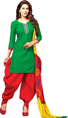 FR Cotton Floral Print, Embroidered Salwar Suit Dupatta Material