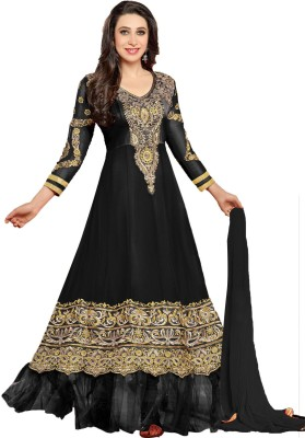 Khantil Georgette Self Design Semi-stitched Salwar Suit Dupatta Material