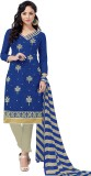 Fabliva Cotton Embroidered Suit Fabric (...