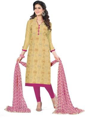 Shopeezo Cotton Embroidered Salwar Suit Dupatta Material