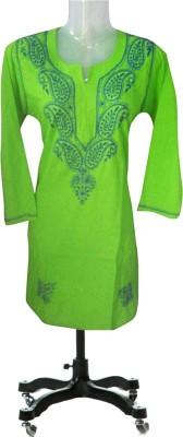 Vini Creations Rayon, Cotton Self Design Kurti Fabric