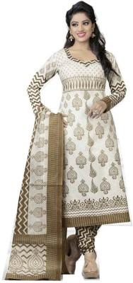Diyastyle Cotton Self Design Dress/Top Material