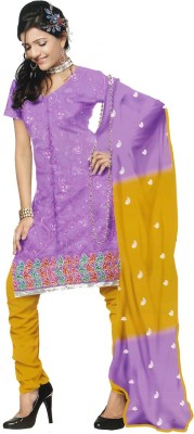 Shahlon Chanderi Embroidered Salwar Suit Dupatta Material
