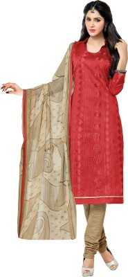 King Sales Chanderi, Cotton Embroidered Salwar Suit Dupatta Material