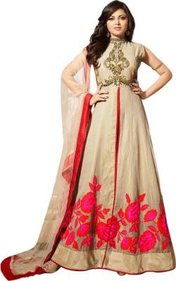 Designer Desk Georgette Embroidered Semi-stitched Salwar Suit Dupatta Material