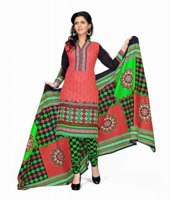 Knack Bazaar Cotton Printed Salwar Suit Dupatta Material