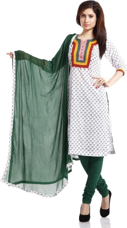 PinkShink Cotton Printed Salwar Suit Dupatta Material(Un-stitched)
