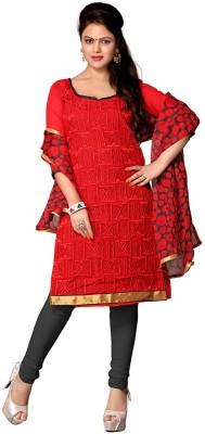Desi Look Chanderi Solid Semi-stitched Salwar Suit Dupatta Material
