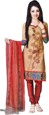 GopalClothDesigner Cotton Embroidered Salwar Suit Dupatta Material