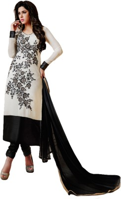 Ustaad Georgette Embroidered Semi-stitched Salwar Suit Dupatta Material