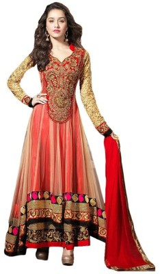 SAMAYCREATIONSTORE Net Embroidered Salwar Suit Dupatta Material