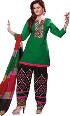 Lime Mode Cotton Self Design Salwar Suit Dupatta Material