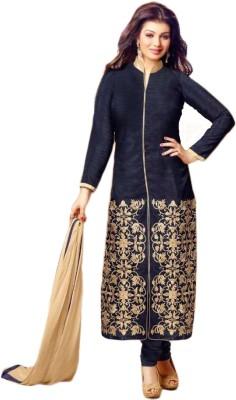 Justchic Silk Embroidered Salwar Suit Dupatta Material